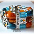 Bracelet_The_Francine_s_design_orange_et_turquoise2