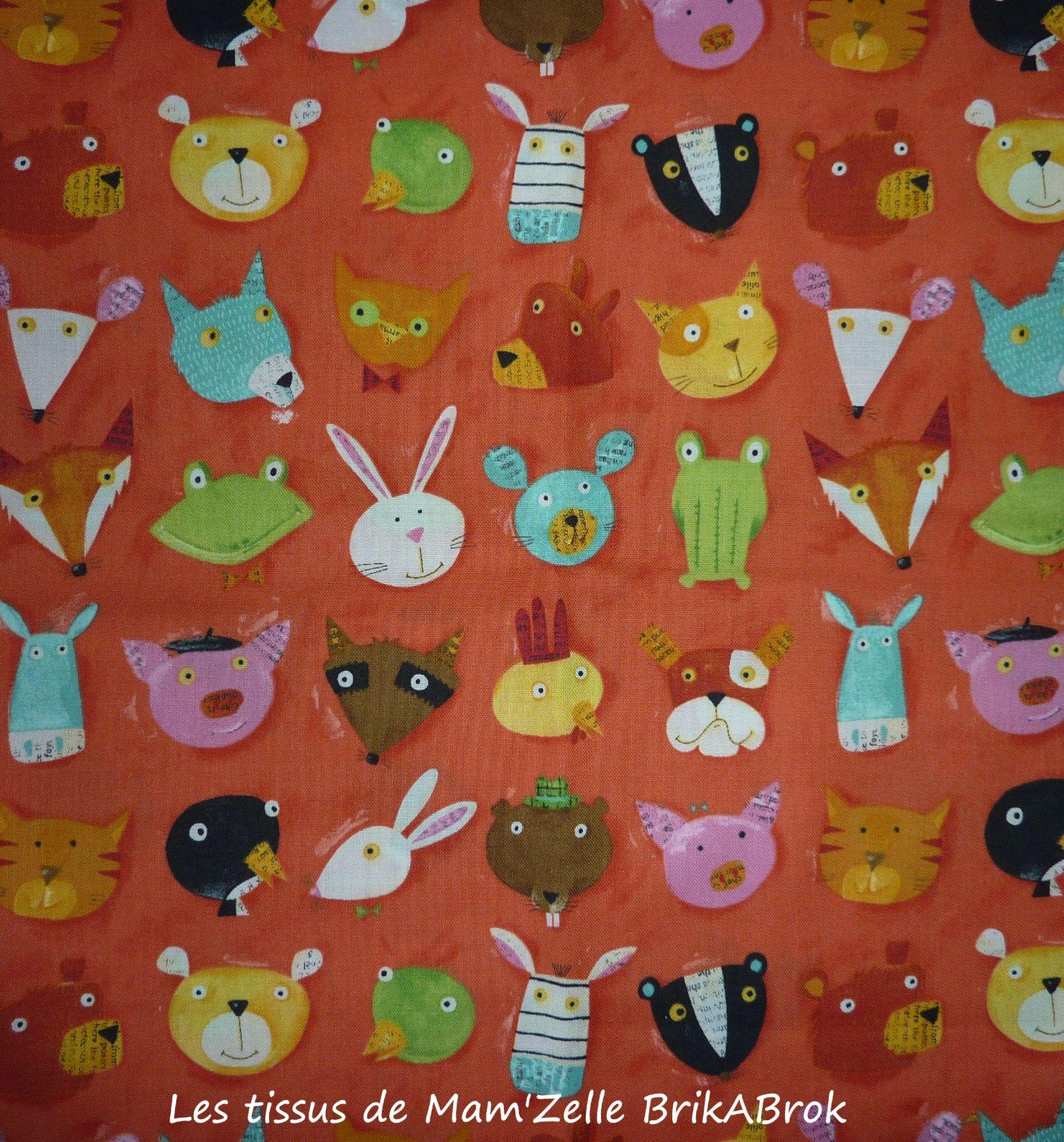 138 - Les ptites bêtes de Kokka sur fond orange