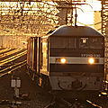 EF210 130, Amagasaki at sunrise