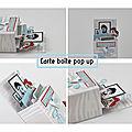 Carte boîte pop up et son tutoriel vidéo