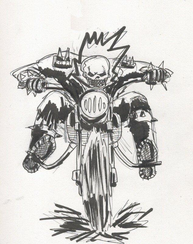 Ghost rider le bazaar de g - Dessin de ghost rider ...