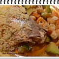 Pavés de saumon sauce crevettes / poireaux ww