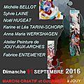 Exposition atelier, artistes et marche creatif : 11 septembre 2016 gaudassien!