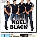 Rugby: all blacks à la une
