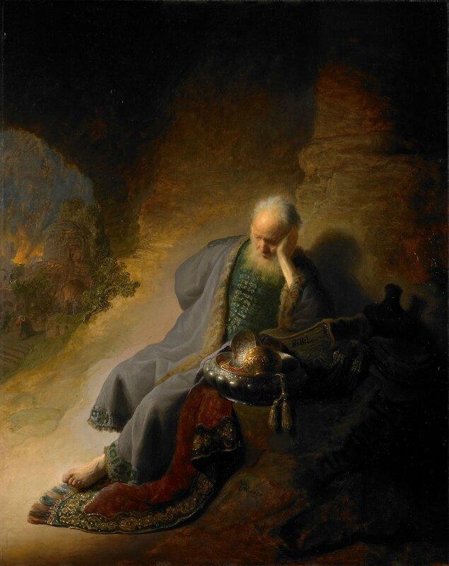 Rembrandt van Rijn, Jeremiah Lamenting the Destruction of Jerusalem, 1630