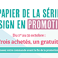 Des promotions chez stampin'up!