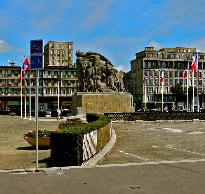 Dans la ville du Havre.