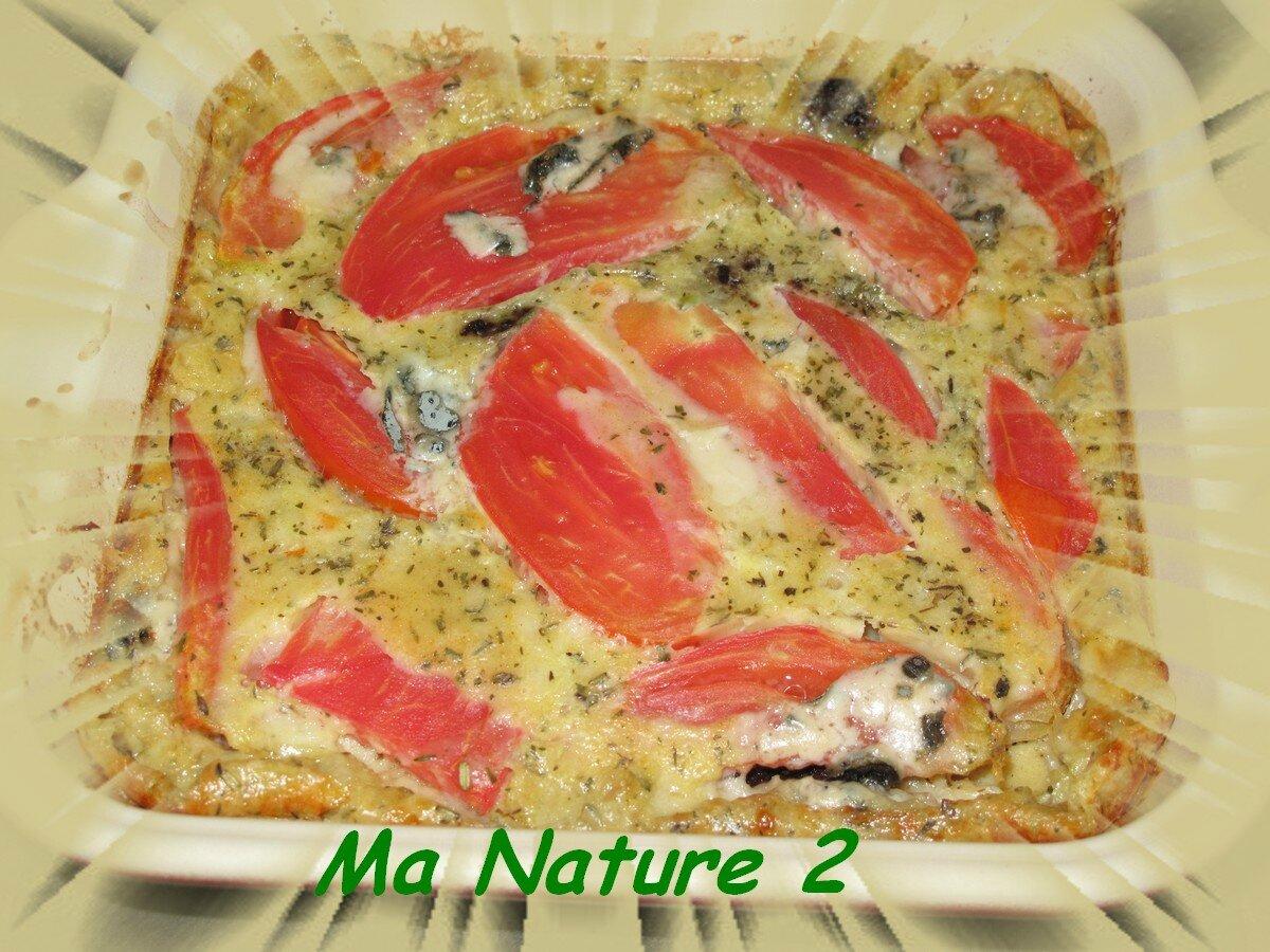 Clafoutis tomates tapenade