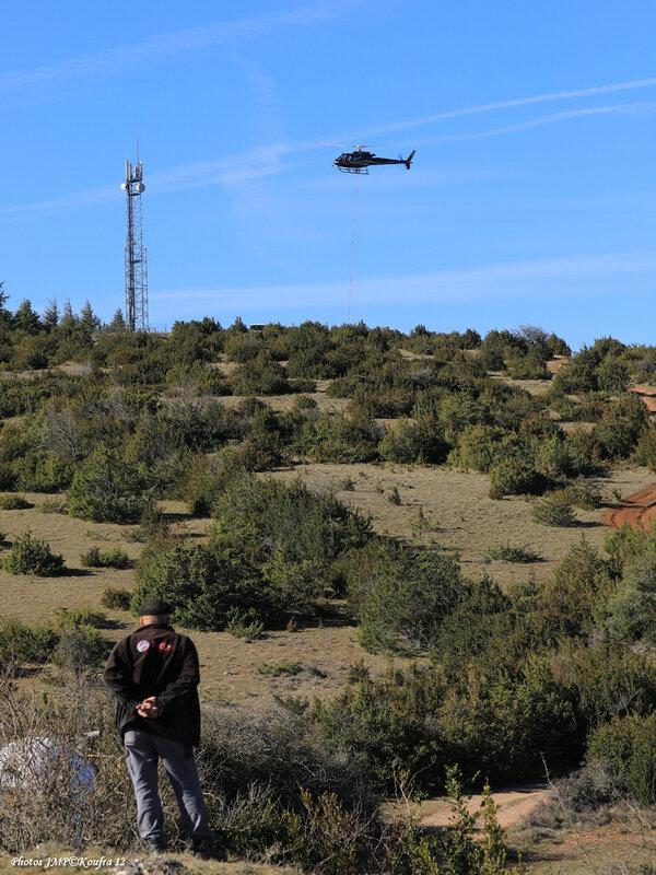 Photos JMP©Koufra 12 - La Couvertoirade - Hélicoptère - 26022019 - 1188