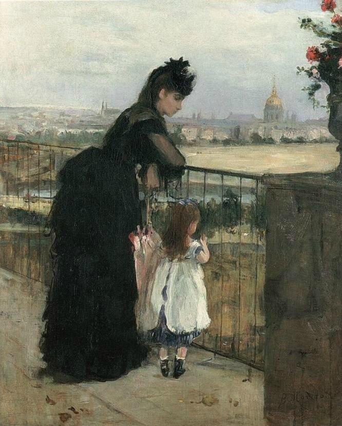 Morisot, femme et enfant au balcon