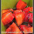 Tartare de fraises à l'huile d'olive vanillée et basilic