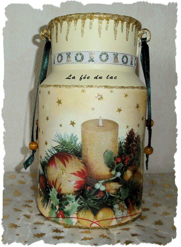 Pot Noël jaune