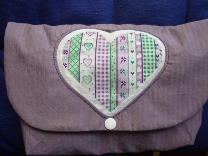 finition coeur patchwork Helly Véronique