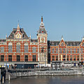 Gare centrale d'amsterdam - pays-bas