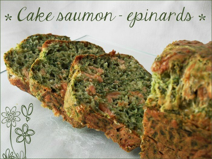 Cake saumon - épinards 1