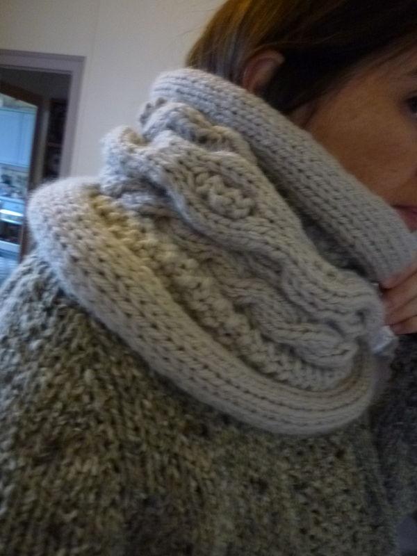Snood tricot13 novembre