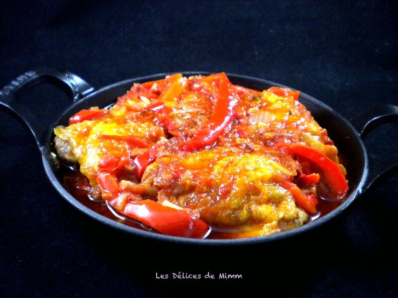 Hauts de cuisses de poulet façon basquaise 3