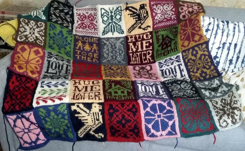 des nouvelles de mon encours tricot ....