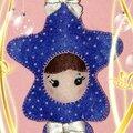 Feutrine Étoile bleue 12,5x10cm