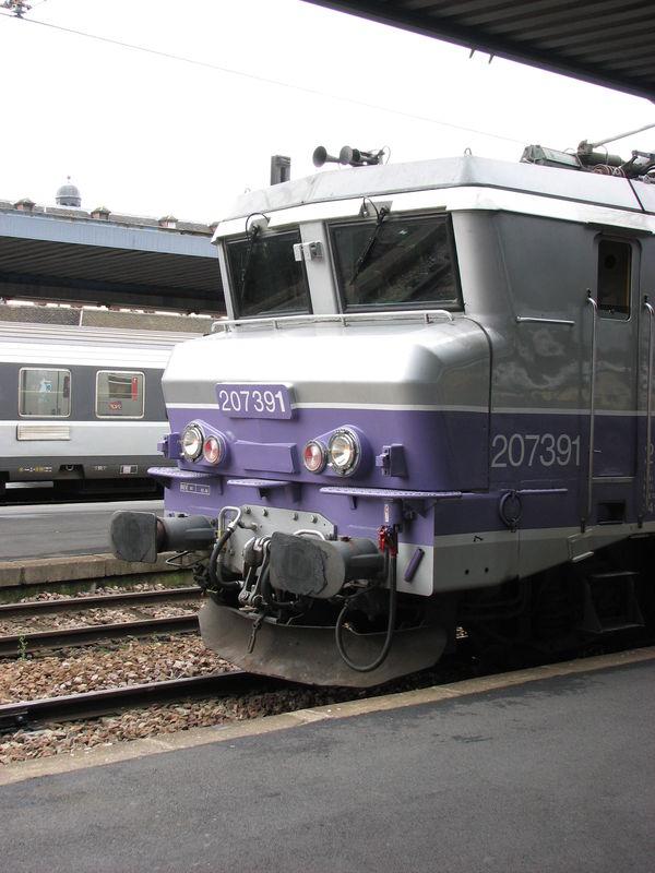 BB 7391 'en voyage' à Paris Austerlitz