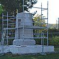 Fin des travaux au monument aux morts