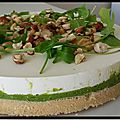 Cheesecake aux petits pois