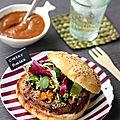 Super food tripes: burger à la joue de boeuf & foie d'agneau à la chermoula