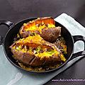 Patates douces farcies au cheddar et aux noix de pécan