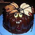 Gâteau tres chocolat pour halloween