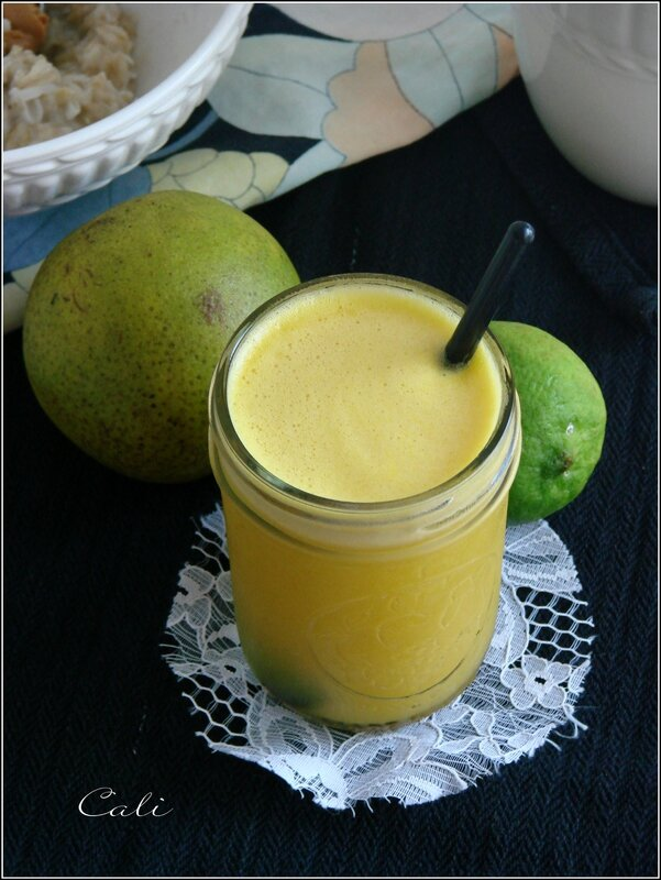 Jus Ananas, Orange, Citron Vert & Gingembre 002