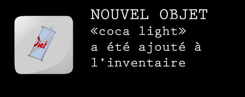 message coca light