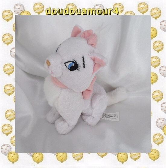 Peluche Doudou Chat Assis Blanc Marie Les Aristochats Nicotoy Disney