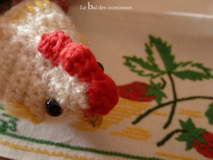 79 Poule et coq au crochet 5