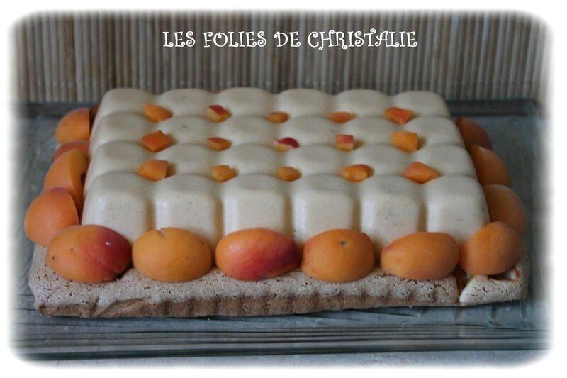 Entremets abricots 6
