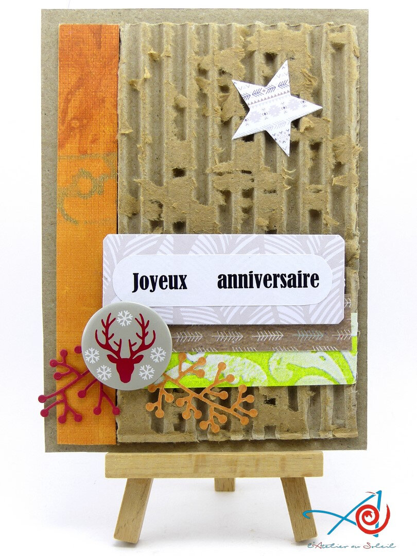 Carte inspiration automnale - Fall inspired card
