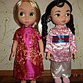 Fleur aux pétales d'or.....garde robe poupées animator's