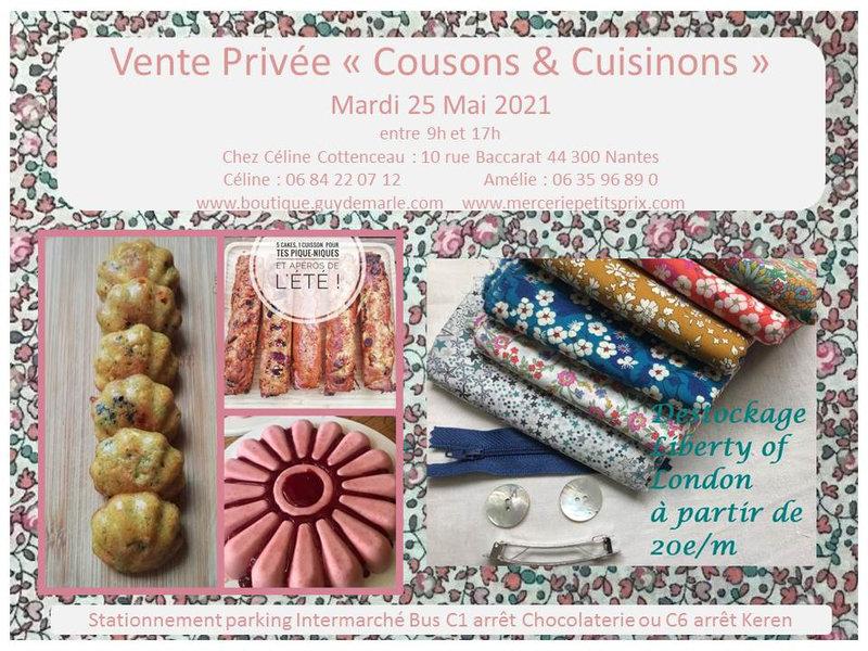invitation vente privée 25 Mai 2021 Cousons et cuisinons jpeg