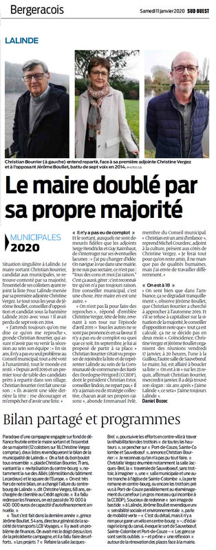 2020-01-11 Sud Ouest 11-01-2020