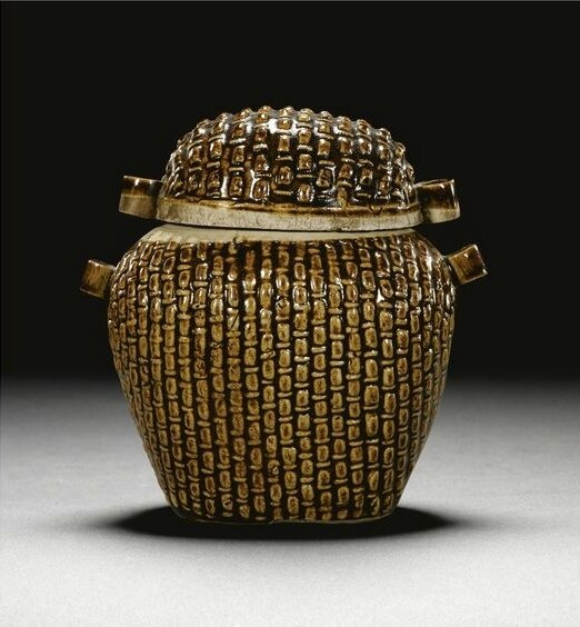 A rare 'basket-weave' jar and cover, Song dynasty (960-1279)