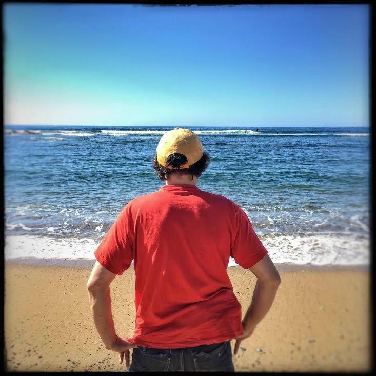 Jénorme sur la plage de Cenitz, Guéthary (64)