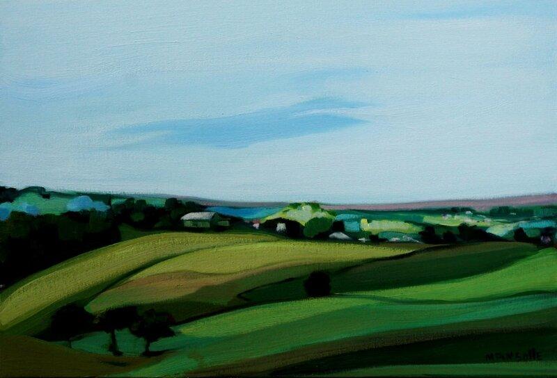 paysage 8792 - huile sur toile - 55 x 38 cm