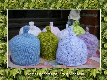 8 petits bonnets