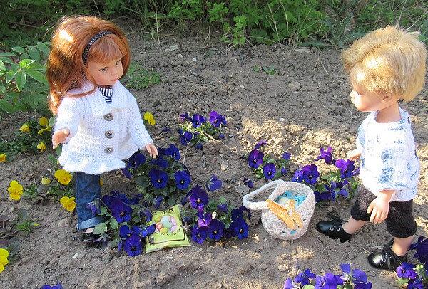 Cristi et Misha à Pâques 05