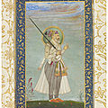 Portrait of shah jahan, mughal india, circa 1700