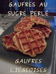 GAUFRES LIEGOISES SUCRE PERLÉ