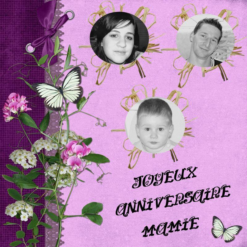 Joyeux Anniversaire Mamie Ma Petite Vie A Moi