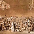 Le serment du jeu de paume, esquisse de j-l david, 1791