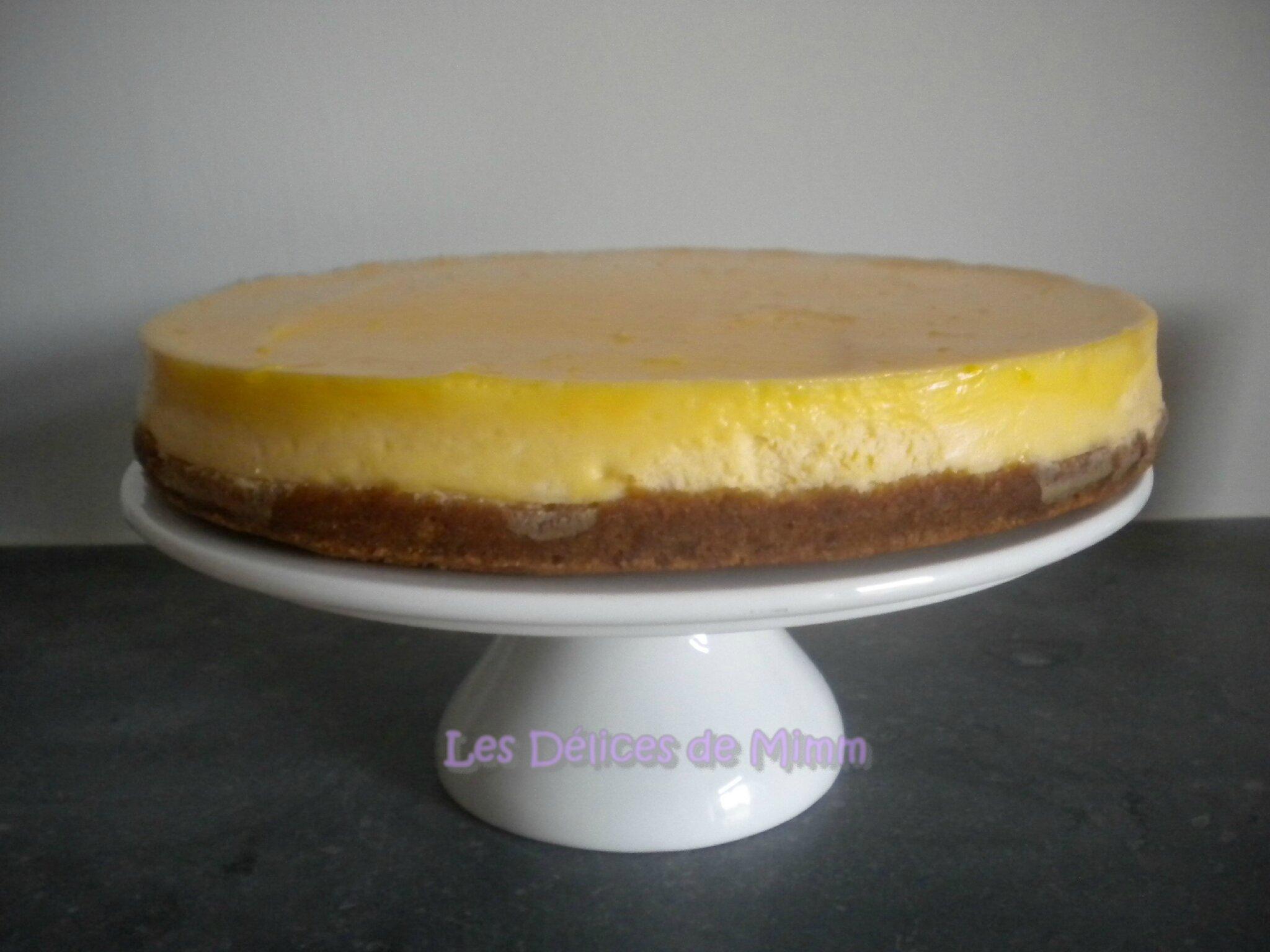 Cheesecake au citron et gagnant du livre de Cyril Lignac ...