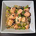 Pavé de saumon aux poireaux
