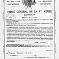 1918 citation du régiment à l'% du C